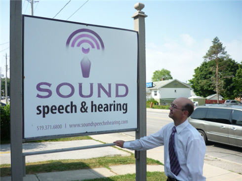 Sound Speech and Hearing signage